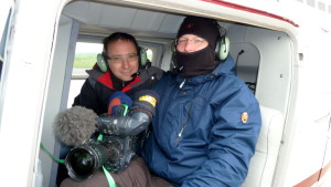 Kameramann Siegfried Umbreit und Reporter Daniel Baumbach