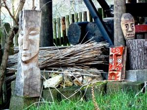 Detail in einem Künstlergarten bei Jena.