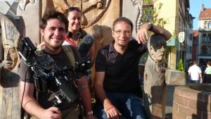Das Medienspezialist-Team: Simon Roloff, Elisa Otto und Daniel Baumbach.