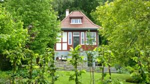 Dieses Gartenhaus in Gotha wurde liebevoll restauriert.