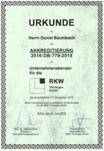 RKW Akkreditierung Daniel Baumbach